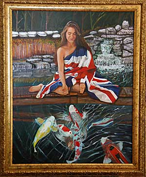 The Union Jack Painting by Ed Champigny